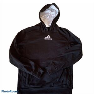 Adidas Black and White Hoodie Sweatshirt